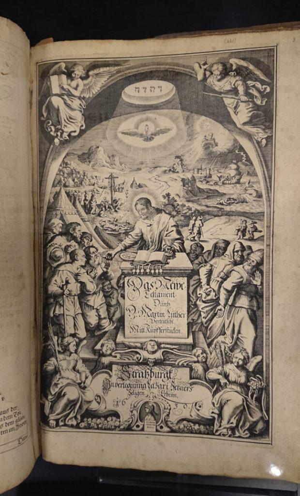 A bible with the tetragrammaton